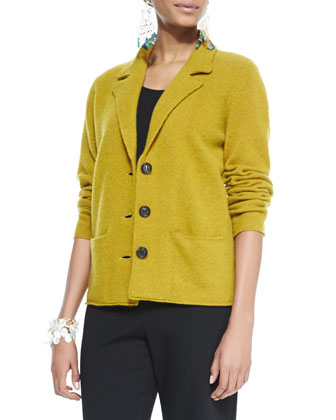Notch-Collar Lambswool Jacket, Cap-Sleeve Tee, Straight-Leg Ponte Pants & ...