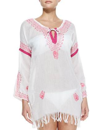 Island Vibe Embroidered Coverup