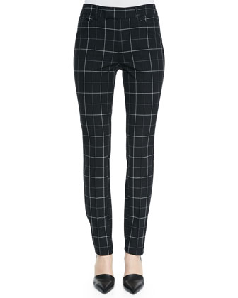 Prep School Slim Plaid Pants