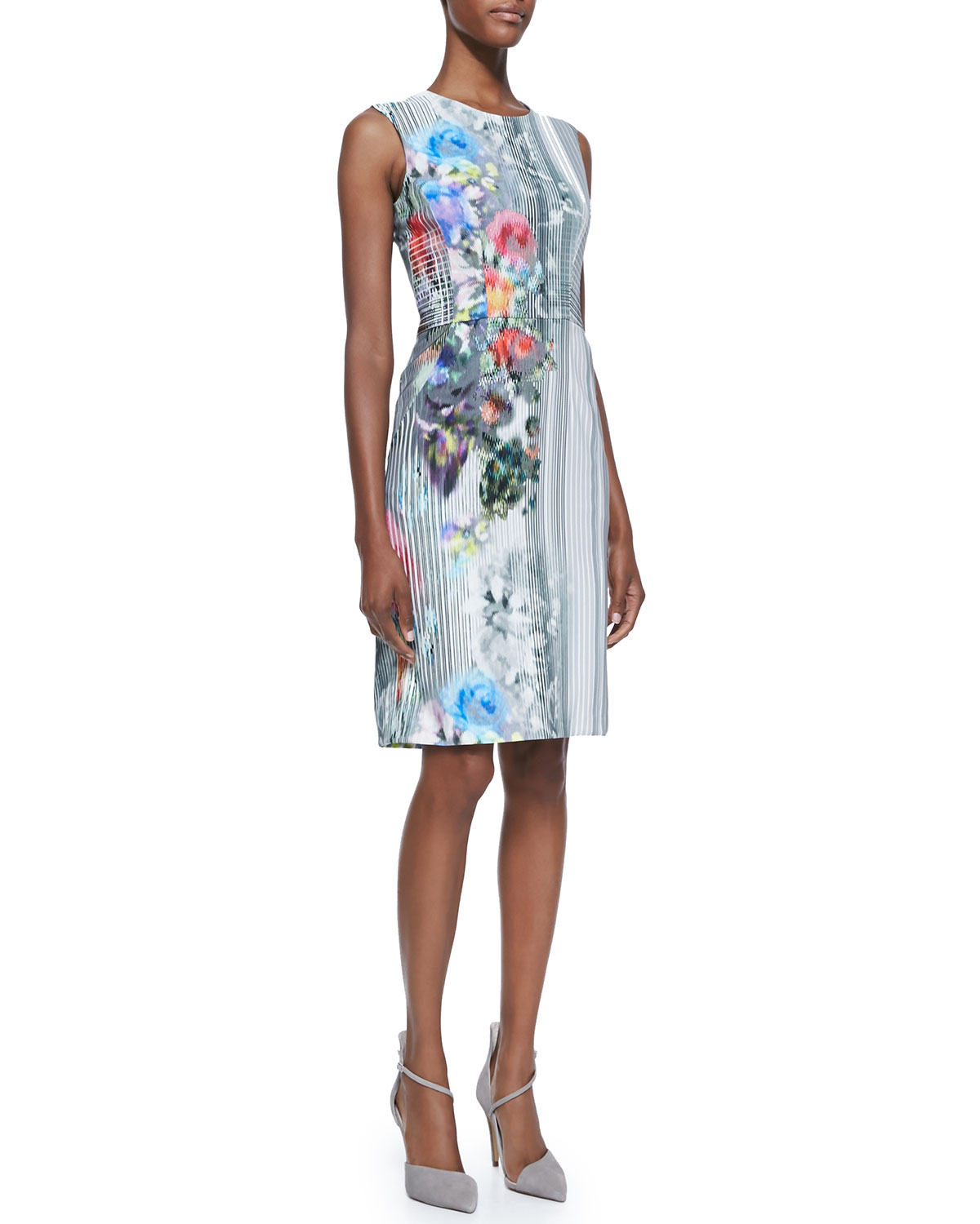 Womens Graphic Floral Print Book Signing Dress   Nanette Lepore   Floral multi