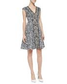 Librarian Floral-Print Sateen Dress