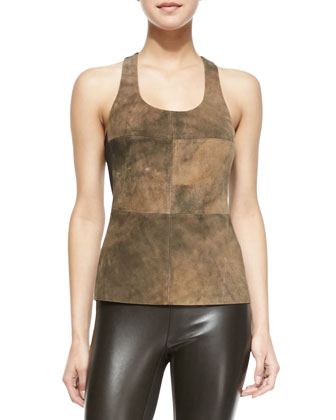 Sugar Maple Leather/Knit Top