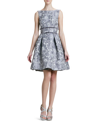 Floral Jacquard Party Dress