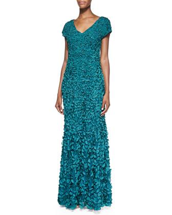 Petal V-Neck Gown
