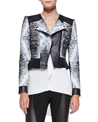 Jimmy Textured Jacket, Ellan Woven Colorblock Top & Shelby Faux-Leather ...