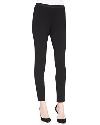 Stretch Ponte Leggings, Black, Women's