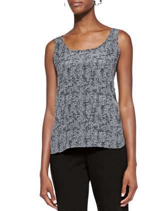 Roadster Printed Silk Tank