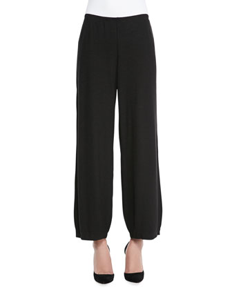 Lantern Wide-Leg Ankle Pants, Women's