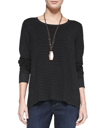 Cozy Striped Box Top, Women's