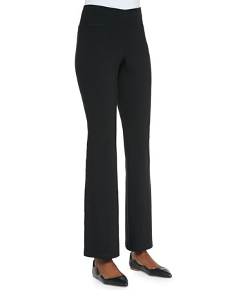 Organic Cotton Yoga Pants, Black, Petite