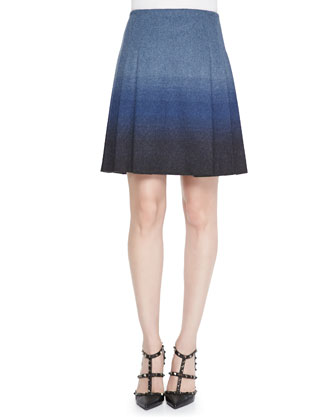 Light Faded Ombre Wool Skirt
