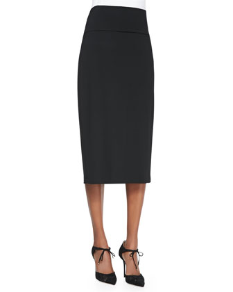 Knee-Length Jersey Skirt, Petite