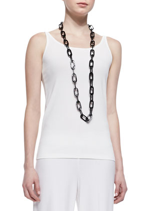 Silk Jersey Long Slim Camisole
