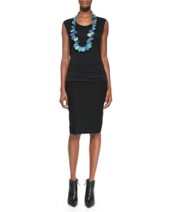 Sleeveless Jersey Tee, Black, Petite