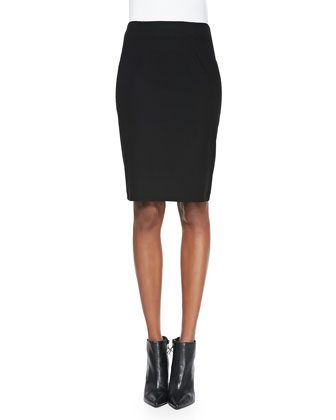 Sleeveless Jersey Tee & Washable Stretch Crepe Pencil Skirt, Women's