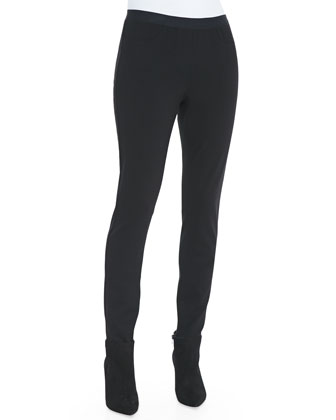 Fisher Project Leather-Waist Ponte Legging Jeans