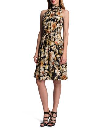 Halter Floral-Print Dress
