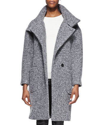 Aylina Felt Funnel-Neck Coat
