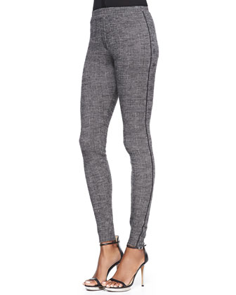 Saskia Wool-Blend Plaid Skinny Pants