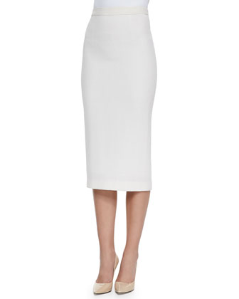 Robinson Pullover Wool Sweater & Jamie Knee-Length Pencil Skirt