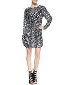 Simona Leopard Print Dress