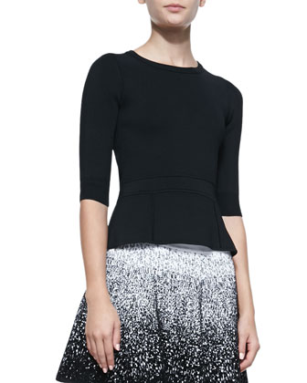 Dorsey Half-Sleeve Knit Top