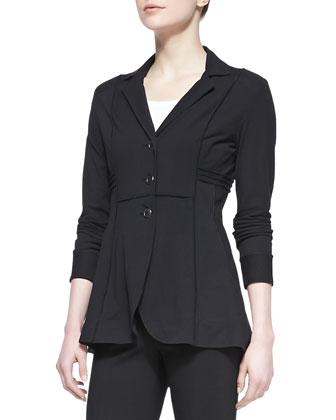 Seamed Riding Jacket, Scoop-Neck Perfect Tank & Perfect Ponte Slim Pants