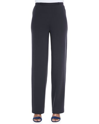 Flat Wool-Knit Pants, Women's