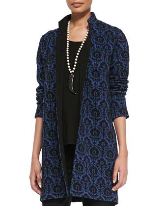 Ren Wool-Knit Long Jacket