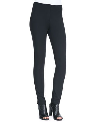 Thea Front-Zip Jersey Leggings