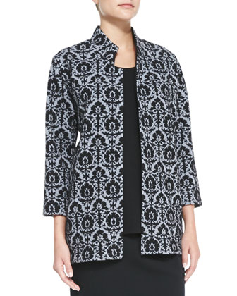 Renaissance Wool Knit Jacquard Jacket, Wool Flat-Knit Long Tank & Easy Knit ...
