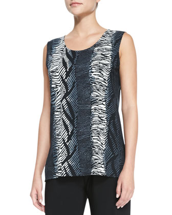 Tribal-Stripe Tank Top