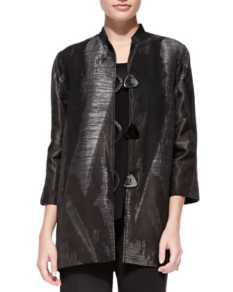 Tribal Jacquard Long Jacket, Women's