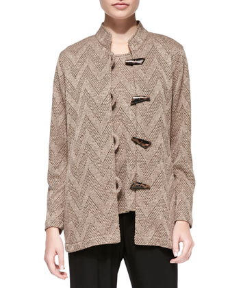 Toggle-Front Chevron Jacket