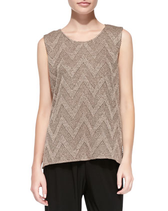 Chevron-Knit Tank, Women's