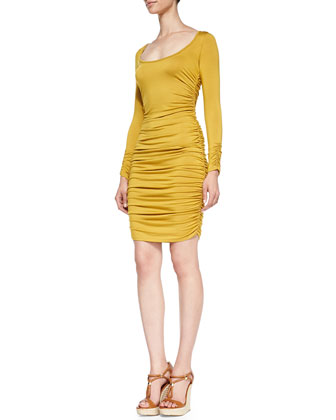 Aurelia Ruched-Side Sheath Dress
