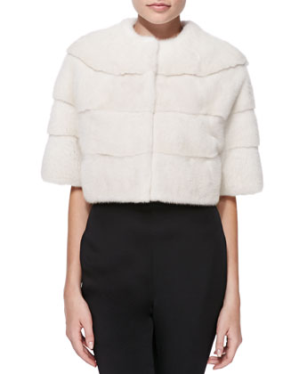 Mink Fur Bolero Jacket