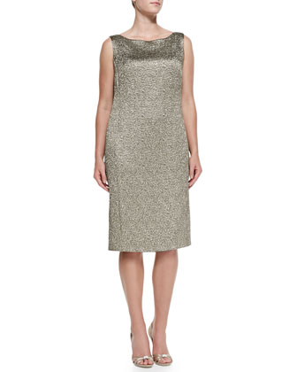 Dublino Jacquard Metallic Dress, Women's