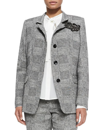 Canazei St. Tweed Menswear Jacket, Women's