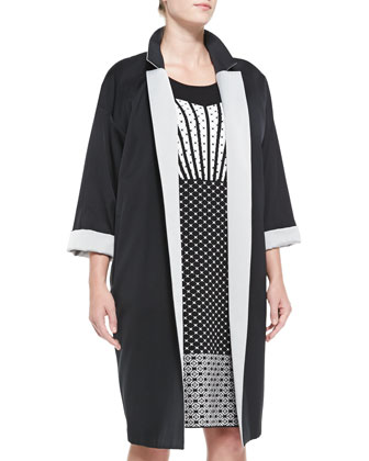 Tabella Two-Tone Coat & Gigi Mixed-Print Jacquard Dress, Women's