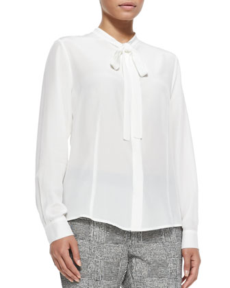 Balza Silk Tie Blouse, Women's