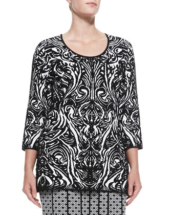 Ande Printed Jacquard Knit Top, Women's