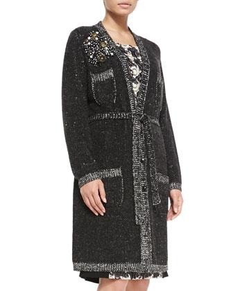 Moena Knit Sweater Coat & Dattero Knit/Tweed Dress