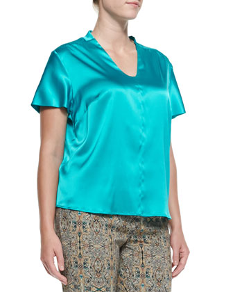 Bea Stretch-Silk Blouse, Women's