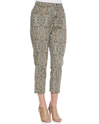 Ricco Printed Skinny-Leg Pants, Women's