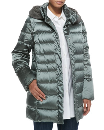 Vienna Quilted Jacket with Fur-Trim Hood, Women's
