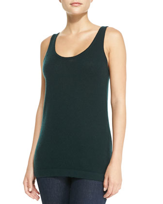 Cashmere Ruffled Bolero & Cashmere Sleeveless Tank Top