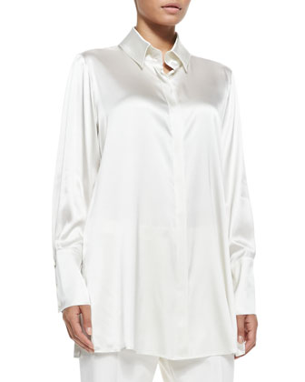 Farro Long Silk Blouse, Women's