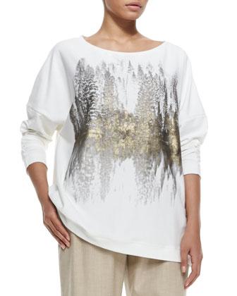 Jersey Sequined Sweatshirt, Women's