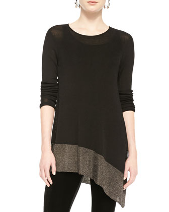 Long-Sleeve Asymmetric Tunic, Women's